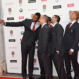 OIC - ENTSIMAGES.COM - Mike Brown, Courtney Lawes, Alex Corbisiero and Billy Twelvetrees at the  Carry Them Home - rugby dinner (Suits provide by Eden Park) at the Grosvenor House London 5th August 2015 Photo Mobis Photos/OIC 0203 174 1069