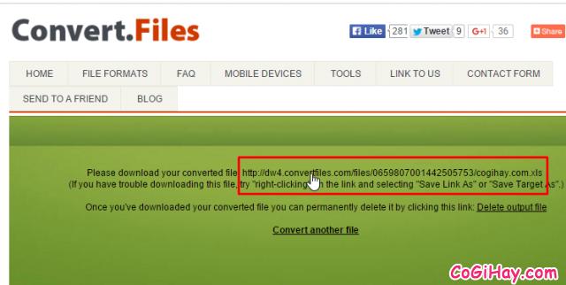 Convert hoàn tất file xlsx sang xls