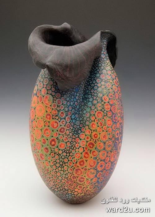 تصميمات وتقنيات خزفيه رائعه فى مشغولات Melanie Ferguson