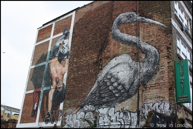 Martin Ron and Roa's Crane on Hanbury Street