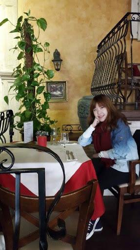 Posing pretty at Restauracja Tradycyja in Krakow