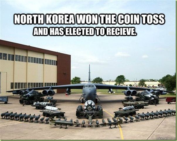 north korea coin toss