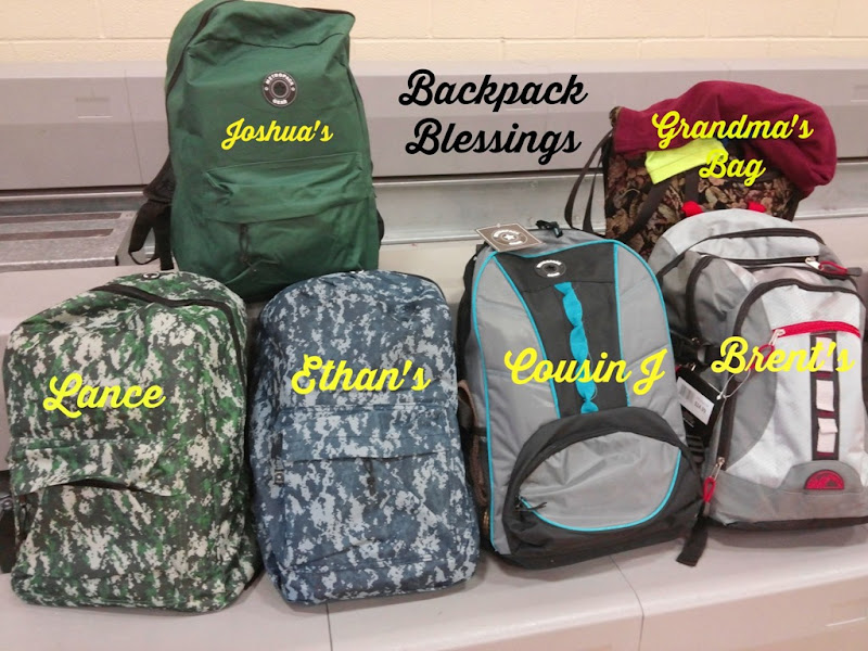 Backpack Blessing Day