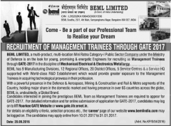 BEML-Limited-Recruitment-through-GATE-2017