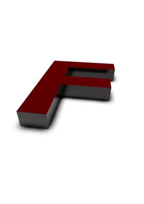 lettre 3D rouge de Chine - F - images libres de droit