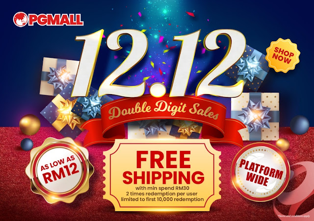 JOM SHOPPING DI PG MALL 12.12 DOUBLE DIGIT SALES