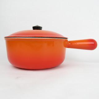Vintage Cousances Enamel Sauce Pan #18