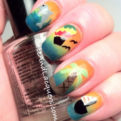 Lace And Lacquers Summer Inspired Nail Art