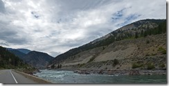 Thompson River above Lytton BC, Trans-Canada Highway