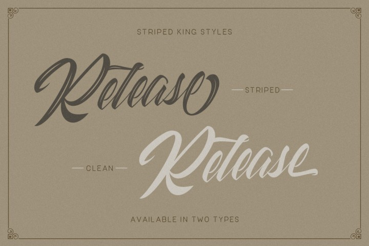 Download Striped King Vintage Script Font Family From Creatype Studio