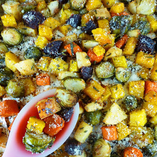 Parmesan Truffle Roasted Harvest Vegetables
