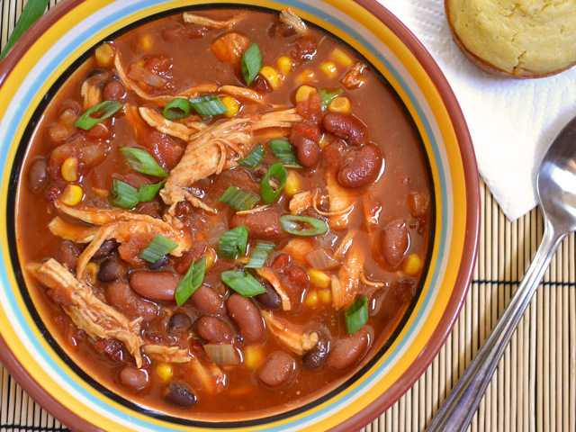 "chipotle chicken chili or ""C3"" - Budget Bytes"