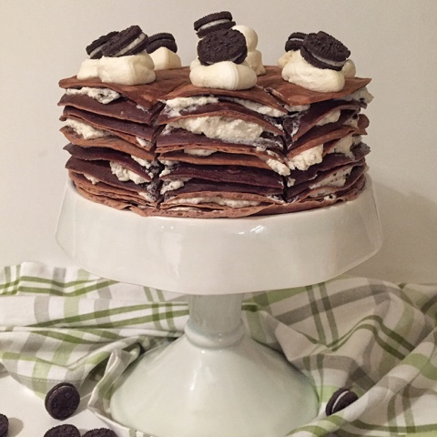 Olles Himmelsglitzerdings Pfannkuchen Torte Mit Oreos