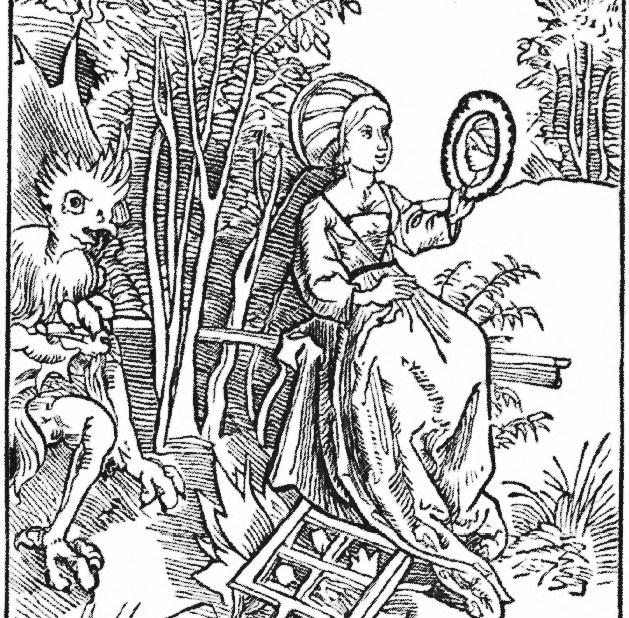 A Dürer selfie: Vberhebung der hochfart.