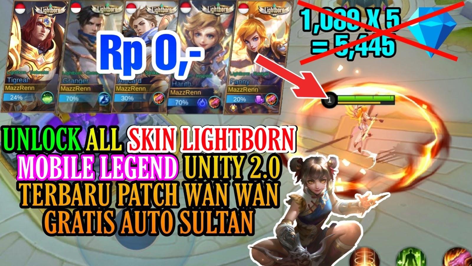 Skin Lightborn Gratis Mobile Legends Permanent Cara