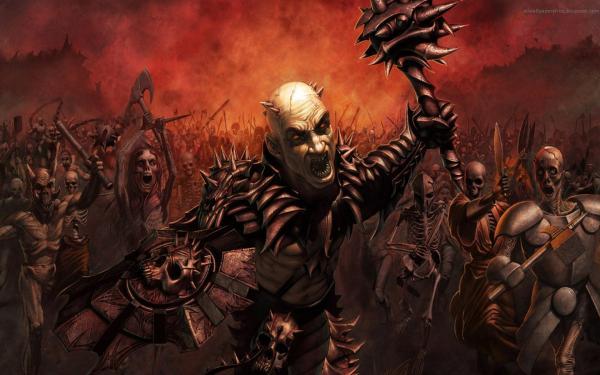 Weird Baroness From Underworld, Horror And Dark Art