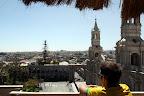 Joshua Overlooking Plaza de Armas (Arequipa, Peru)