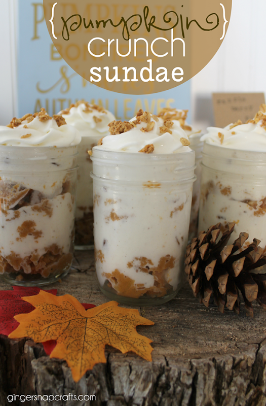pumpkin crunch sundae at GingerSnapCrafts.com