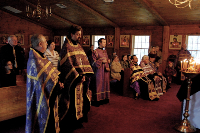 Visiting clergy and faithful.