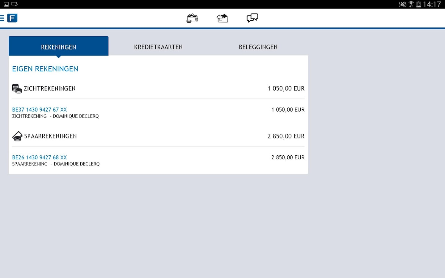 Fintro Easy banking - screenshot