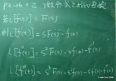 微分式的拉式轉換