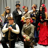 steam punk fashion show at anime north 2013 in Mississauga, Ontario, Canada