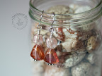 Copper and peach glass bead earrings.