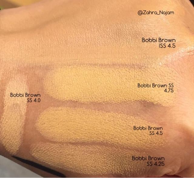 Bobbi Brown Skin Stick Foundation Swatch Comparisons 40 425 45