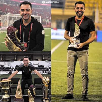 Xavi has just won his 7th managerial title with Al Sadd in just 2 years.