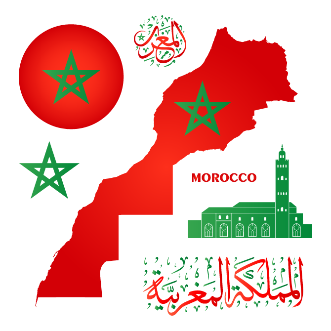 download icons morocco map flag text arabic africa llustration vector eps pro maroc icons vector