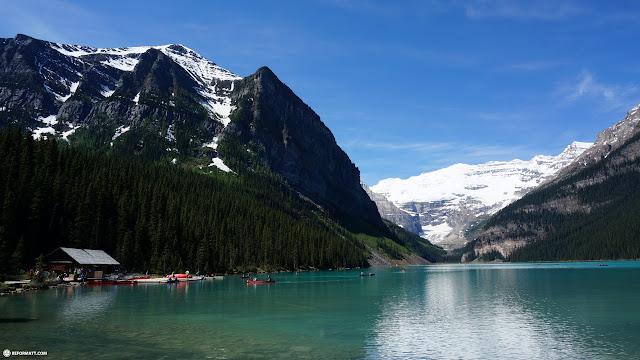 at Lake Louise, Alberta, Canada in Lake Louise, Alberta, Canada