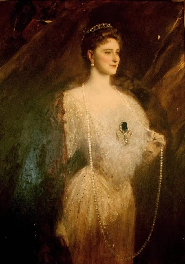 Jean-Joseph Benjamin-Constant - Portrait of the Empress Alexandra Fyodrovna
