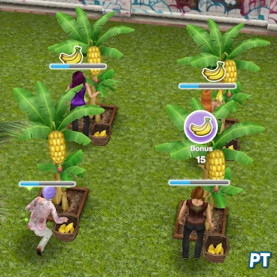 Tropical Romance Island Event - collecting bananas