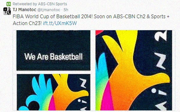 fiba world cup 2014 soon on abs-cbn channel 2 channel 23