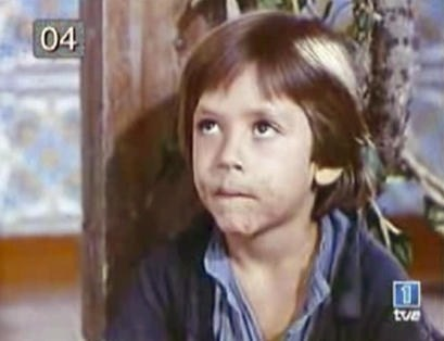 """Primera aparición de Javier Bardem, en la serie """"El Pícaro"""", de TVE"""