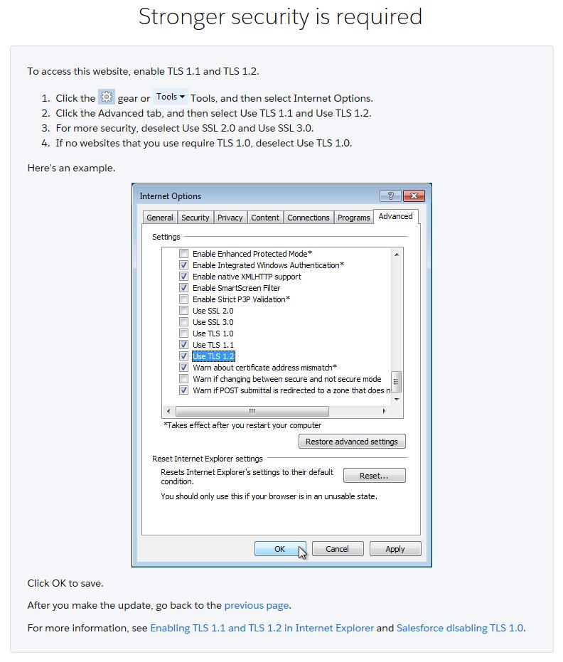 Salesforce tls 10 windows vistaxp internet explorer yelopaper Images