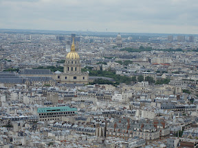 Les Invalides from the second level