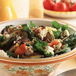 Eggplant and Feta Salad.