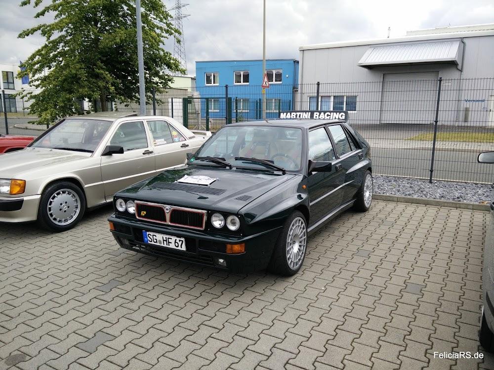 Startnummer 84 Lancia Delta Integrale 1992