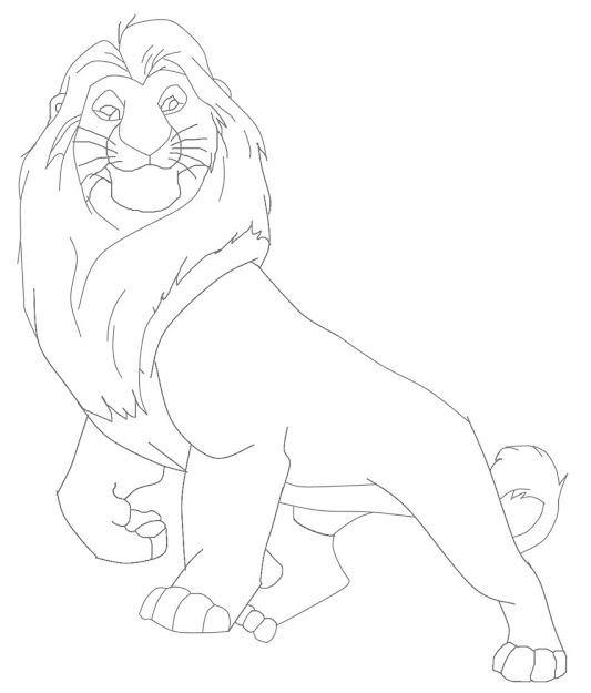 Mufasa The Great The Lion King Coloring Page Download  Print Online Find  Your Favorite Mufasa In The Lion King Coloring Pages Section You