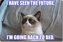 GRUMPY CAT HAS SEEN THE FUTURE