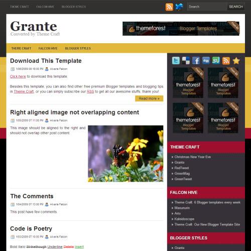 Grante,blogger,Templates for blogger