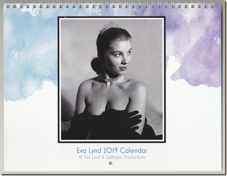 Eva Lynd 2019 calendar - Cover