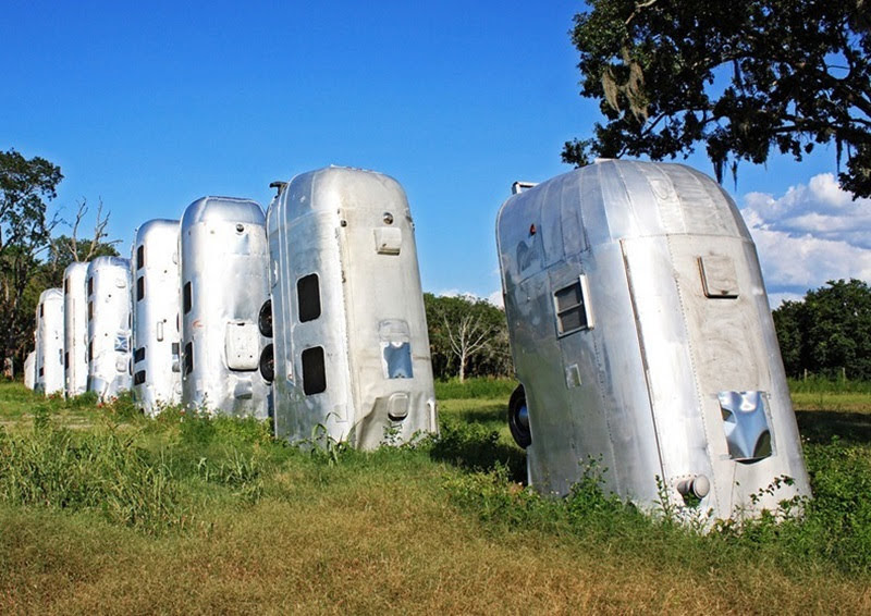 Airstream Ranch, curiosa arte feita com trailers no Texas