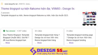 Đăng Bài Chuẩn SEO Dành Cho Theme Blogspot Tại Design 5S