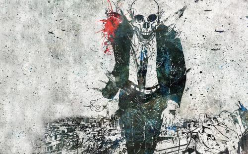 Dark Skull In Jacket, Death