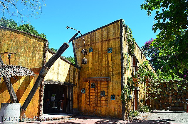 The Entrance to the world of quirky buildings and junk arts of Prado Farms