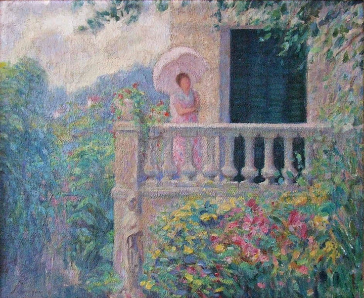 Henri Lebasque - Lady on the Balcony