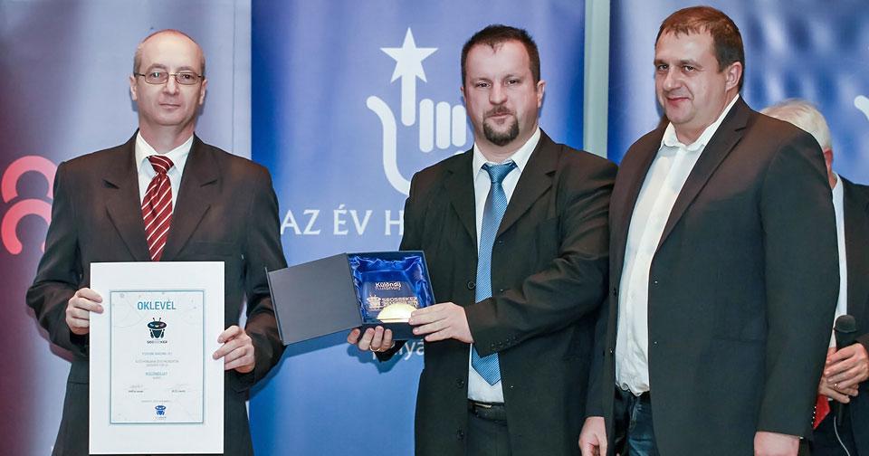 Az Év Honlapja versenyen 2015-ben kapott különdíj átadása