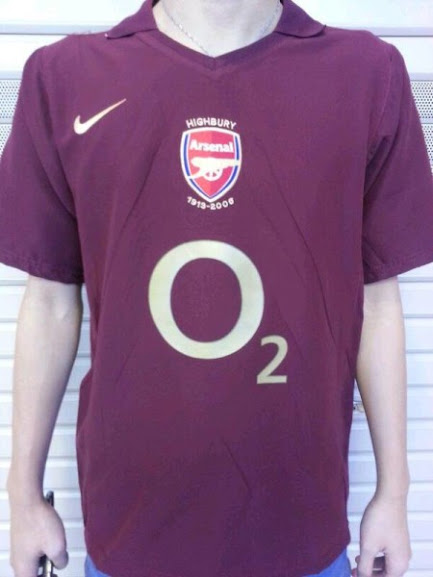 Jual Jersey Retro Arsenal O2 Warna Ungu